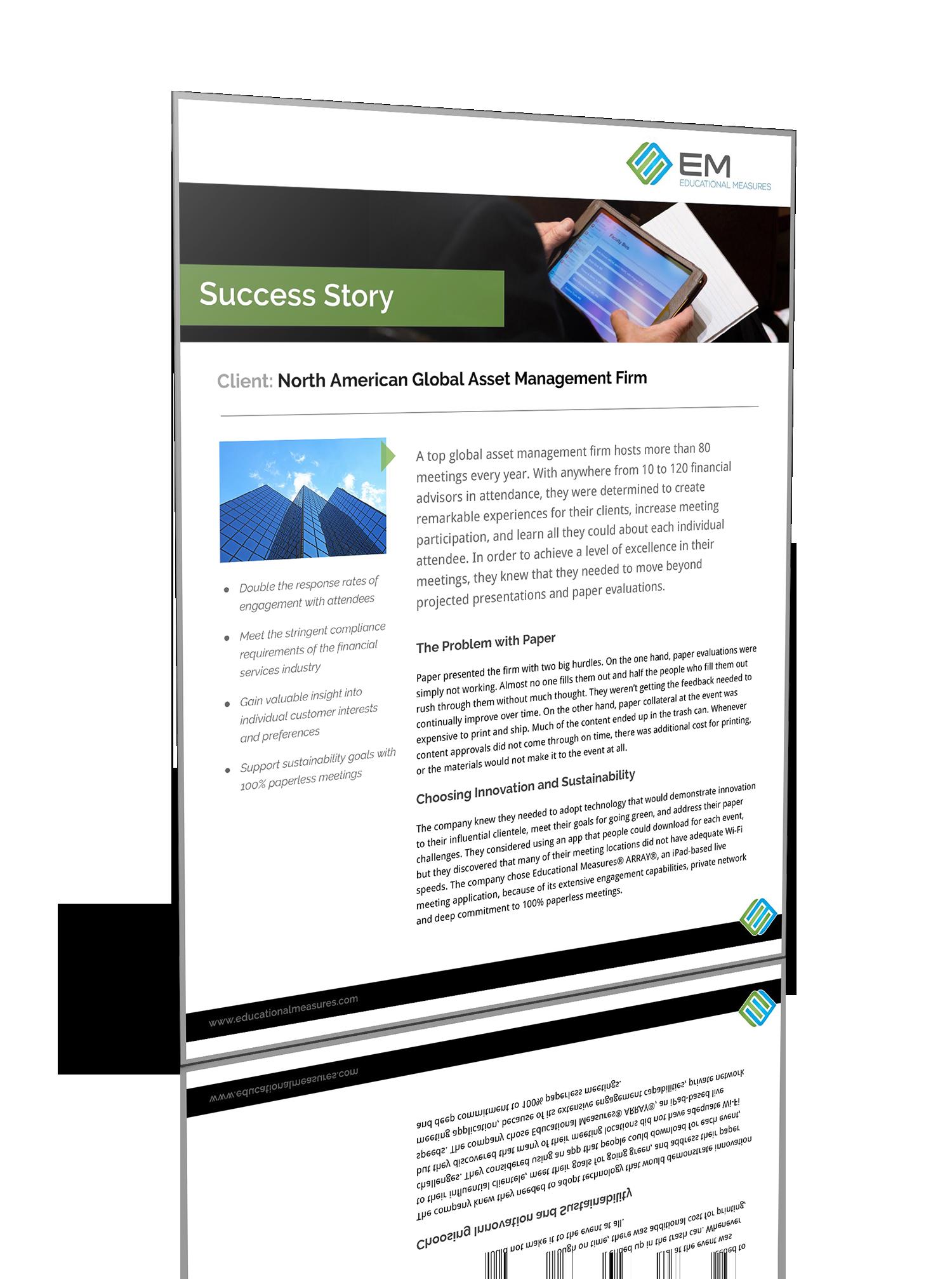 Global Asset Management Firm Success Story